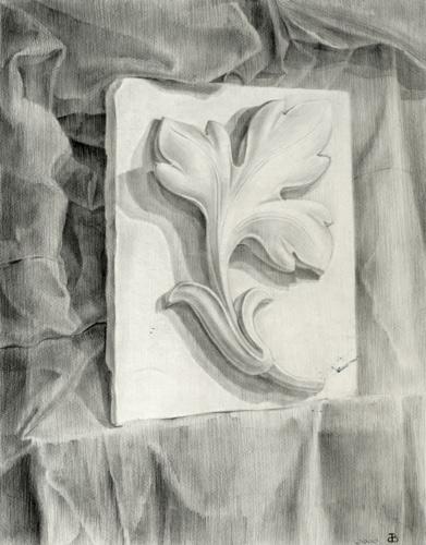 Рисунок карандашом для гипса